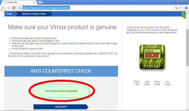 vimax asli kode valid